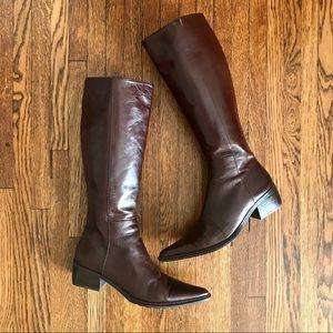 Salvador Bachiller Brown Riding Boots Block Heel